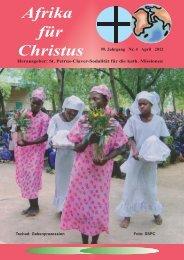 Nr. 4. April - bei den Missionsschwestern des hl. Petrus Claver