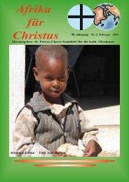 Nr. 2. Februar - bei den Missionsschwestern des hl. Petrus Claver