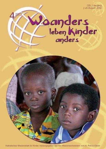 Nr. 4. Juli-August - bei den Missionsschwestern des hl. Petrus Claver