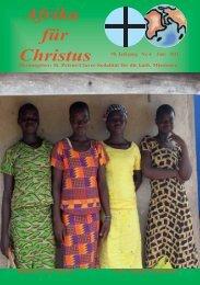 Nr. 6. Juni - bei den Missionsschwestern des hl. Petrus Claver