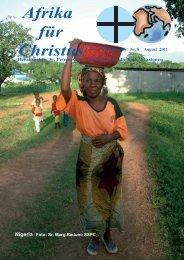 Nr. 8. August - bei den Missionsschwestern des hl. Petrus Claver