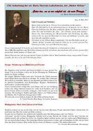 Projekte - bei den Missionsschwestern des hl. Petrus Claver