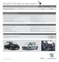 PEUGEOT 107 Black & Silver Edition - PEUGEOT Presse