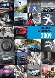 DOCUMENT DE RÉFÉRENCE - PEUGEOT Presse