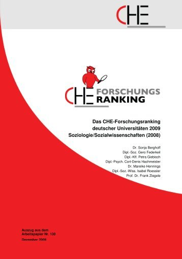 Das Che-Forschungsranking deutscher Universitäten 2009 ...
