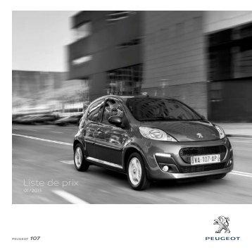 Liste de prix - Peugeot
