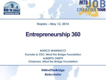 Go Global Now 2014 - Entrepreneurship 360° - Mind the Bridge