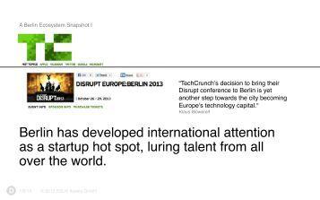 Go Global Now 2014 - Entrepreneurship 360° - The Factory