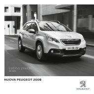 Listino prezzi - Peugeot