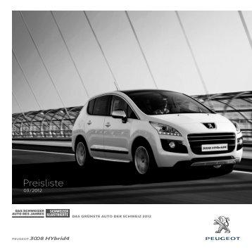 Preisliste - Peugeot