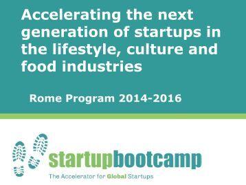 Go Global Now 2014 - Entrepreneurship 360° - Startup bootcamp Rome