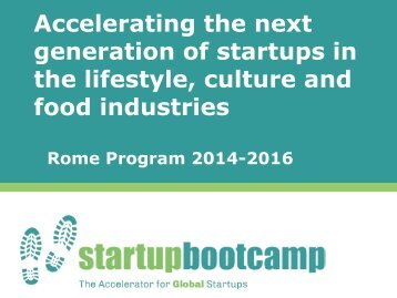 Go Global Now 2014 - Entrepreneurship 360° - Startup bootcamp Rome