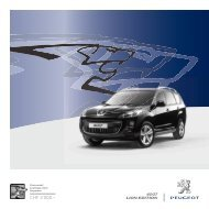 4007 LionEdition_01-2011.indd - Peugeot
