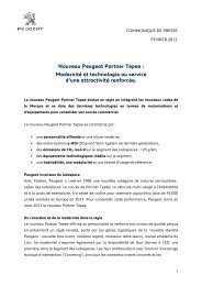 Télécharger le communiqué de presse - Peugeot