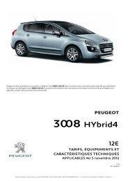 CT 3008 HYbrid4 12E.V1.0 - Peugeot