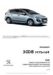 CT 3008 HYbrid4 12D.V1.1 - Peugeot