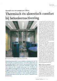 Thermisch én akoestisch comfort bij betonkernactivering - Peutz