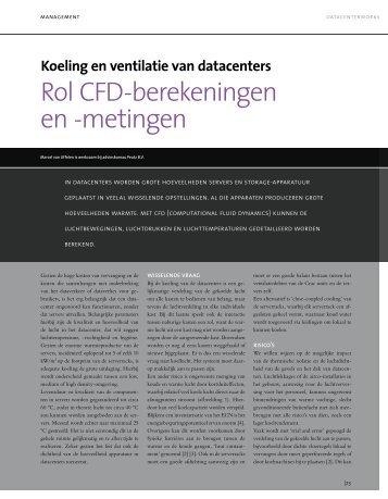 Rol CFD-berekeningen en -metingen - Peutz