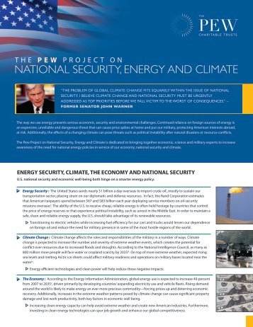 national security, energy and climate - Pew Environment Group