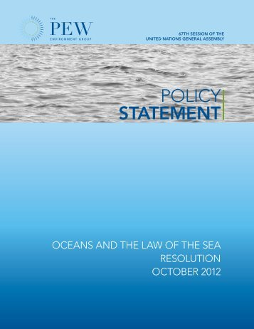 Policy Statement - The Pew Charitable Trusts