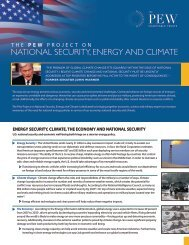 The Pew Project on National Security, Energy and Climate