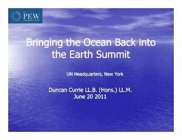 Bringing the Ocean Back into the Earth Summit - Pew Environment ...