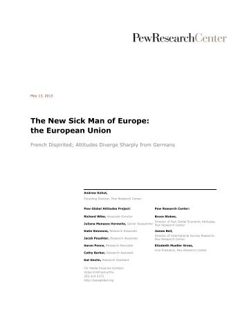 The New Sick Man of Europe: the European Union - Pew Global ...