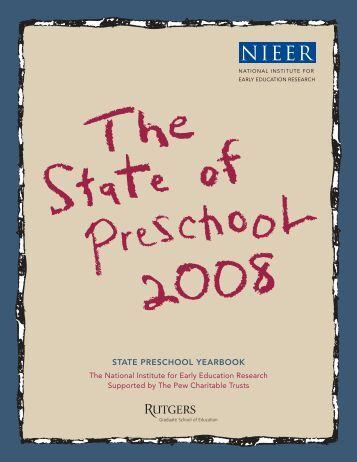 Report: The State of Preschool 2008: State Preschool Yearbook