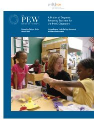 A Matter of Degrees: Preparing Teachers for the Pre-K Classroom