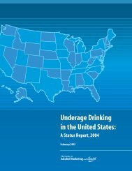 Underage Drinking in the United States: A Status Report, 2004