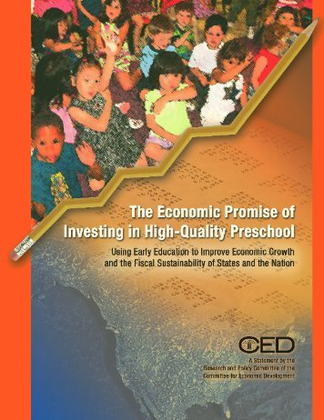 The Economic Promise of Investing in High-Quality Preschool