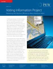 Report: Voting Information Project - The Pew Charitable Trusts