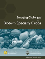 Emerging Challenges for Biotech Specialty Crops - The Pew ...