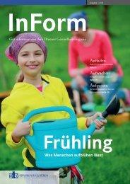 InForm - Gut informiert mit dem Dürener Gesundheitsmagazin, Ausgabe 1 2014
