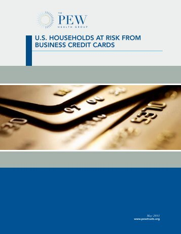us households at risk from business credit cards - The Pew ...