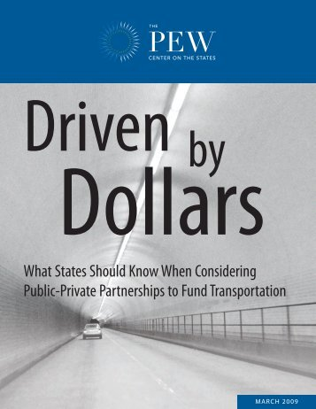 Driven by Dollars - The Pew Charitable Trusts