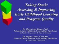 Assessing & Improving Early Childhood Learning - The Pew ...