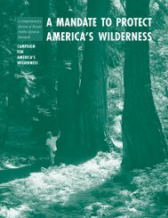 A Mandate To Protect America's Wilderness - The Pew Charitable ...
