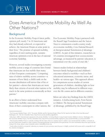 Does America Promote Mobility As Well As Other Nations?