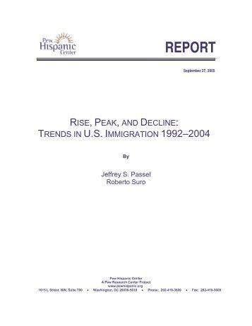 Report: Rise, Peak and Decline: Trends in U.S.