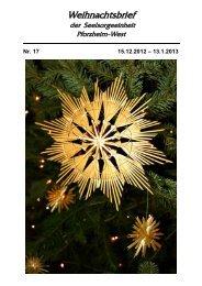 Pfarrblatt Nr. 17-2012 - bei der Seelsorgeeinheit Pforzheim West