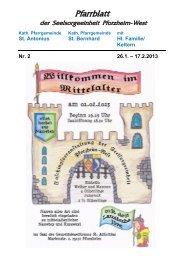 Pfarrblatt Nr. 2-3 - bei der Seelsorgeeinheit Pforzheim West