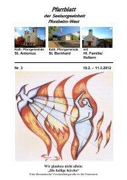 Pfarrblatt Nr. 3 -2012 - bei der Seelsorgeeinheit Pforzheim West