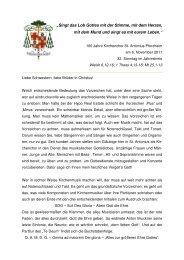 Predigt-Erzbischof am 06. November 2011, St. Antonius Kirche