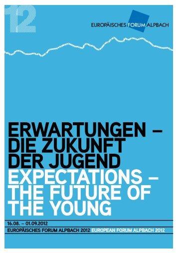 ErWArTunGEn – DiE ZuKunFT DEr JuGEnD EXpEcTATions – ThE FuTurE oF ...