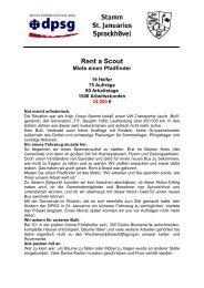 Flyer St. Jauarius Sprockhövel Rent a scout 1 - Stiftung DPSG