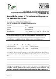 Anmeldeformular / Teilnahmebedingungen für TeilnehmerInnen