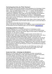 Herbstlagerberichte der Pfadi Säuliamt