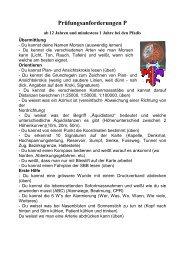P Anforderung - Pfadi Weiach