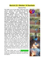 Bericht Samhain - Pfadi Weiach